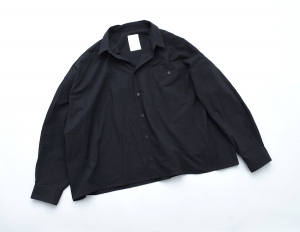 "WHOWHAT 「 ""5X SHIRT"" LONG SLEEVE / SHORT LENGTH - BLACK 」"
