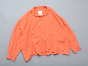 "WHOWHAT 「 ""5X SHIRT"" LONG SLEEVE / SHORT LENGTH - CORAL PINK 」"