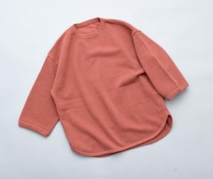 crepuscule 「 7's round knit / orange 」