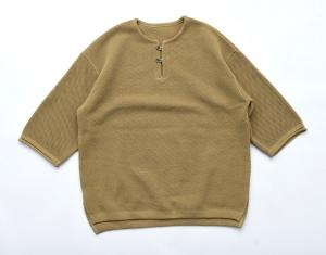 crepuscule 「 moss stitch S/S skipper /  D.Olive 」