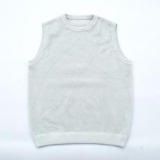 crepuscule 「 moss stitch vest / L.Blue 」