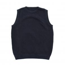 crepuscule 「 moss stitch vest / Black 」