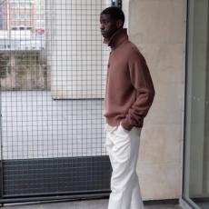 AURALEE「 HARD TWIST DOUBLE CLOTH WIDE SLACKS / WHITE 」