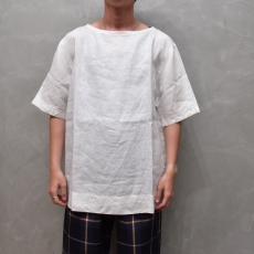 AUGUSTE-PRESENTATION PajamaLook 「 リネンシーツ半袖プルオーバー / WHITE 」