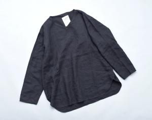 AUGUSTE-PRESENTATION PajamaLook 「 リネンシーツ長袖プルオーバー / BLACK 」