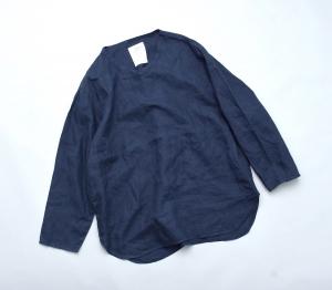 AUGUSTE-PRESENTATION PajamaLook 「 リネンシーツ長袖プルオーバー / NAVY 」
