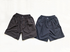 COMFORTABLE REASON「 Pile pocket 2 tack Lounge shorts / Brown 」