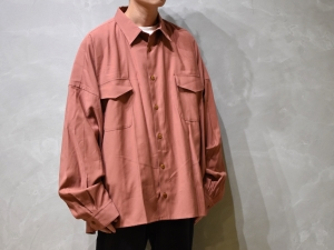 WHOWHAT 「 5X SHIRT - SHORT LENGTH - / ANTIQUE CORAL PINK 」