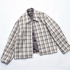 AURALEE「 DOUBLE FACE CHECK ZIP BLOUSON / BROWN CHECK」