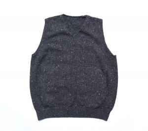 crepuscule「wholegarment knit vest / Black」