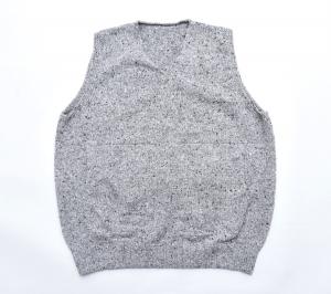 crepuscule 「 wholegarment knit vest / Gray 」