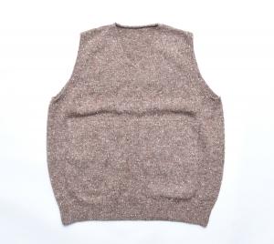 crepuscule 「 wholegarment knit vest / Brown 」