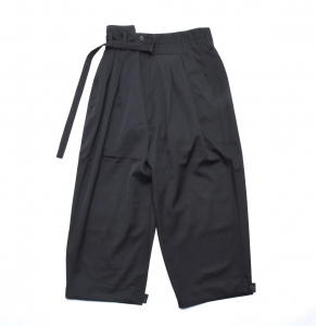 ESSAY「P-2 : HAKAMA SLACKS / Black」