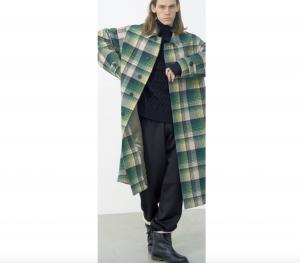AURALEE「 WOOL CHECK MELTON LONG SOUTIEN COLLAR COAT 」