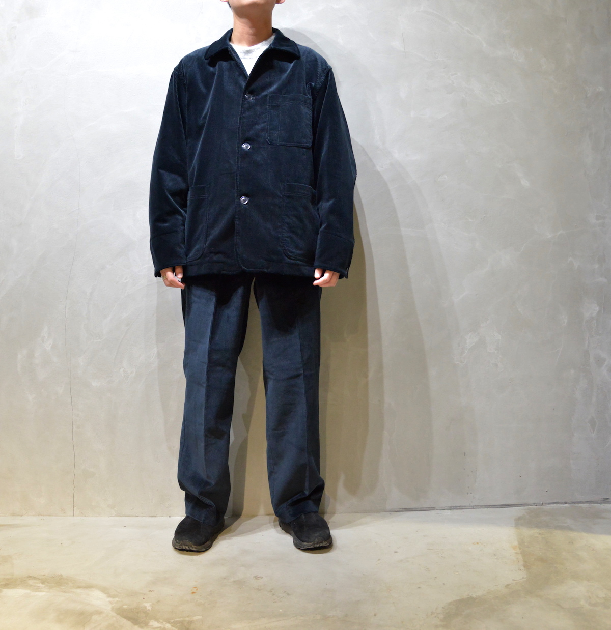 BROWN by 2-tacs 「 STRAIGHT SLACKS / NAVY 」