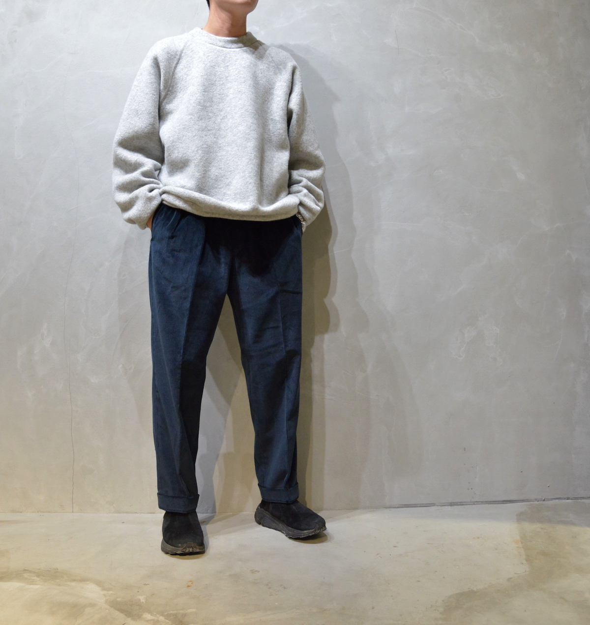 BROWN by 2-tacs 「 TAPERED SLACKS / NAVY 」