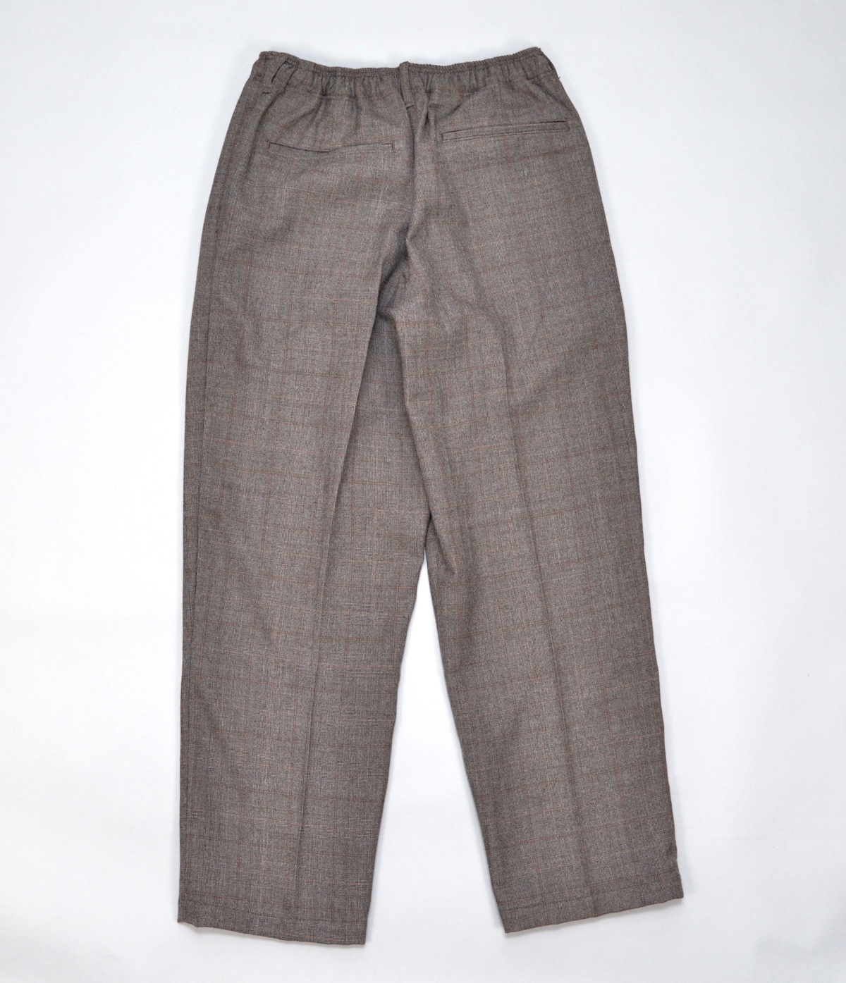 COMFORTABLE REASON「 Wool Glen Check Slacks / Brown 」