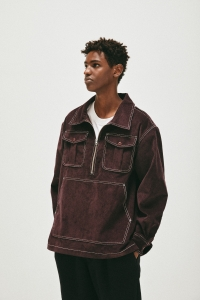 COMFORTABLE REASON「 Corduroy PO Shirts Jacket / Purple 」