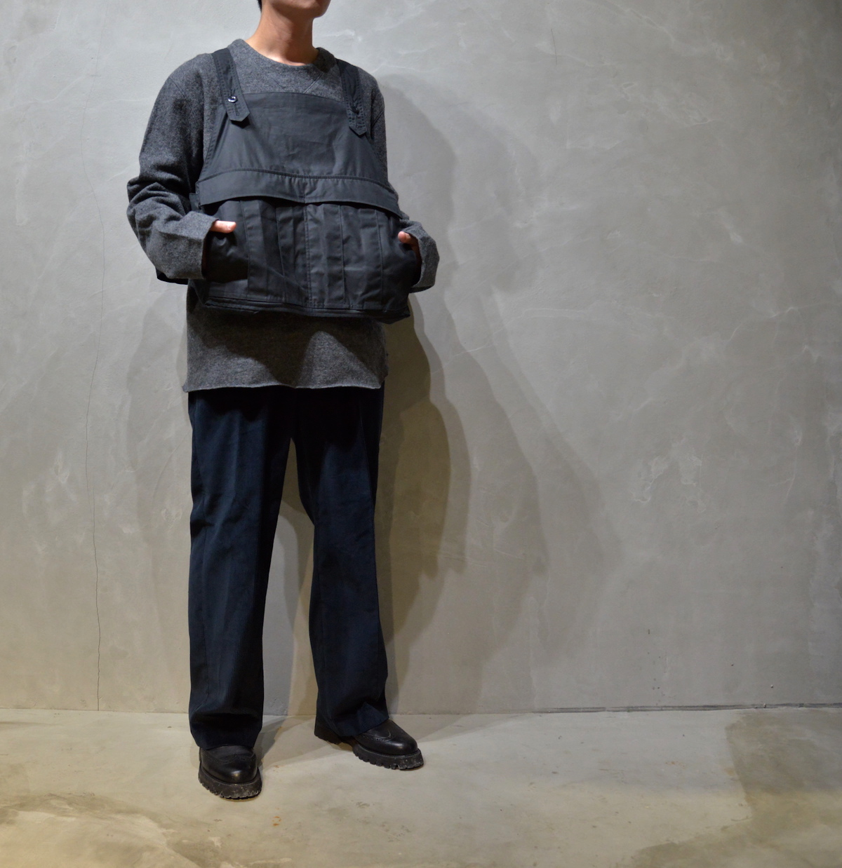 BROWN by 2-tacs 「 SEED IT / NAVY  *The British Millerain Co.Ltd. 」