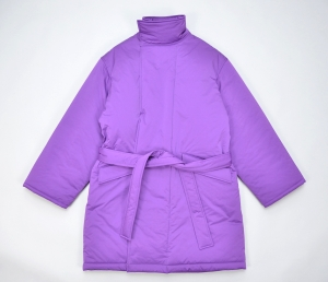 WHOWHAT 「 TIBET HALF COAT /  PURPLE 」