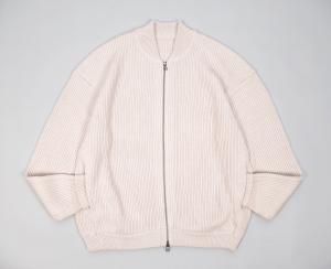 crepuscule「 rib stitch zip cardigan / Oatmeal 」
