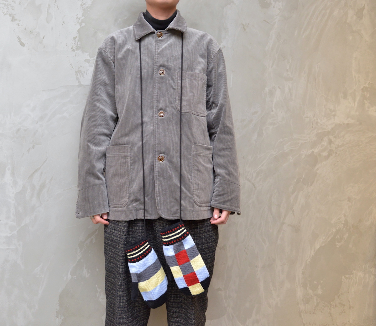 NOROLL 「 NOROLL PATCH MITON / BLACK 」