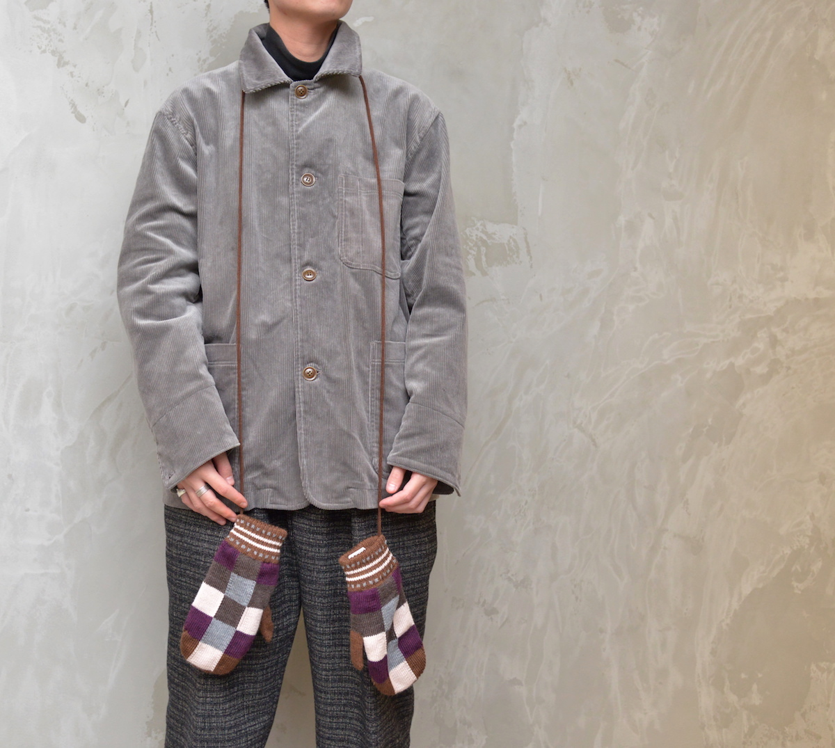 NOROLL 「 NOROLL PATCH MITON / BROWN 」