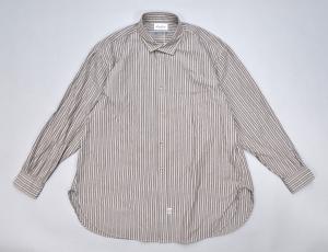 Marvine Pontiak shirt makers 「 Italian Collar SH / Brown ST 」