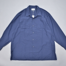 Marvine Pontiak shirt makers 「 Open Collar SH / Smoke Blue 」