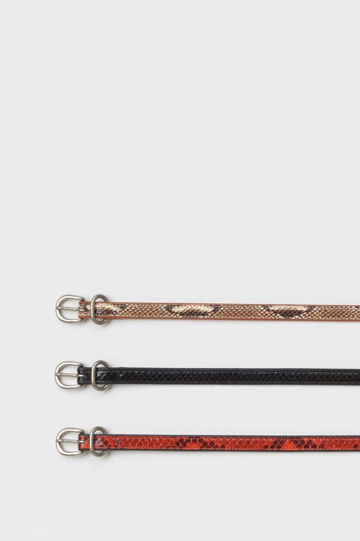 Hender Scheme「 python tail belt / black python 」