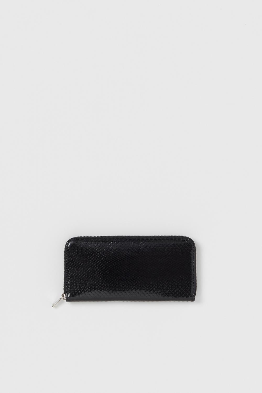 Hender Scheme「python long zip purse / black python」
