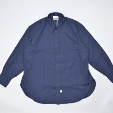 Marvine Pontiak shirt makers 「 Regular Collar 3 Button SH / Indigo Dobby  」