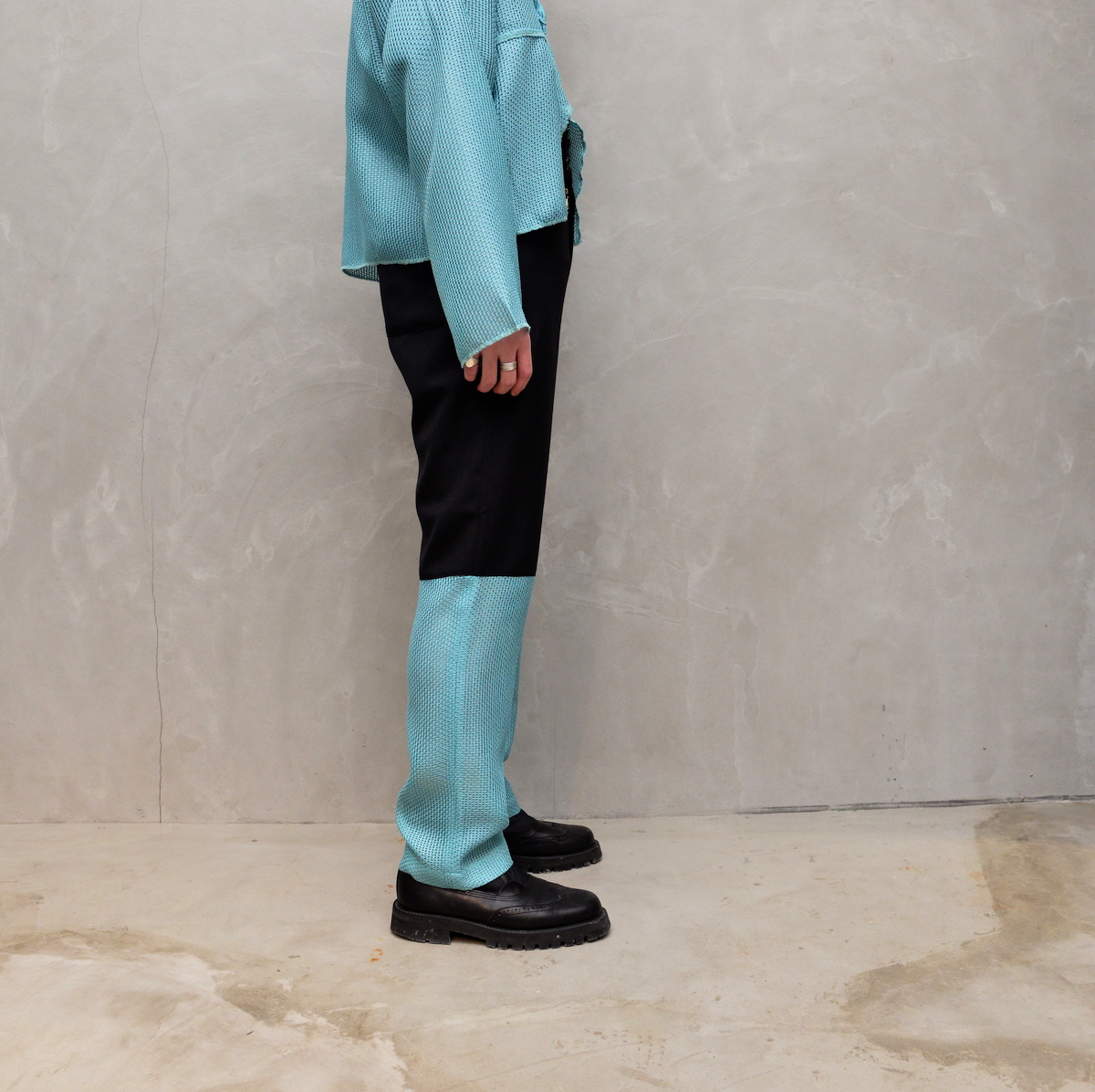 RANDY 「 Personal / black × light blue 」