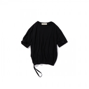 POLYPLOID「DRAW CORD T-SHIRT TYPE-C / BLACK」