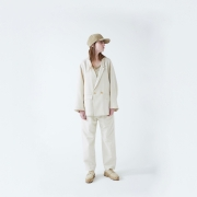 WHOWHAT「DOUBLE & DOUBLE WIDE JACKET / IVORY」