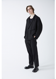 WHOWHAT「DOUBLE & DOUBLE TUCK PANTS」