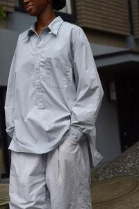 Marvine Pontiak shirt makers 「 Tab Collar L/S SH / Oak 」