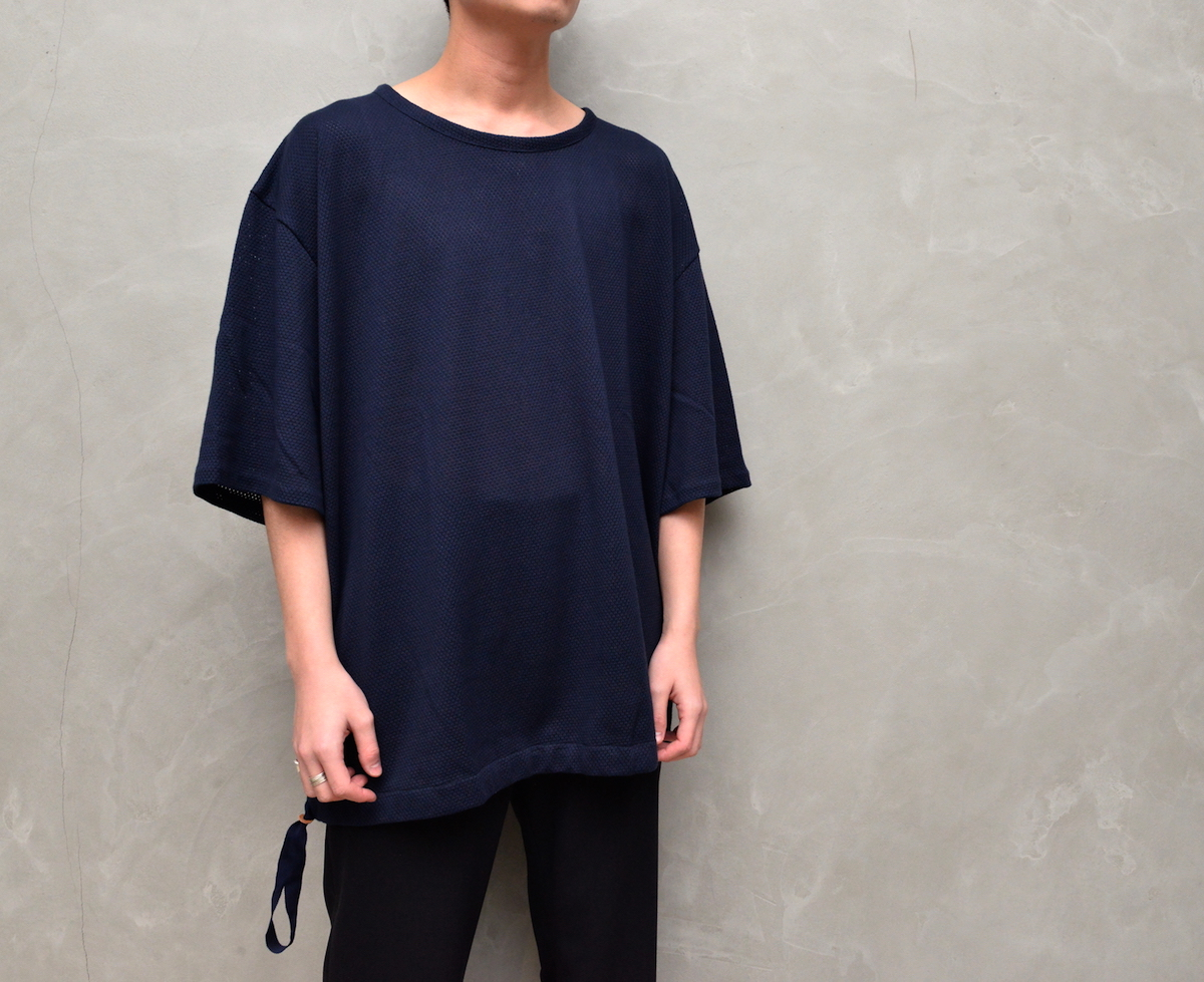 POLYPLOID「DRAW CORD T-SHIRT TYPE-C / NAVY」