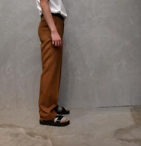 AURALEE「 WOOL CUPRA LINEN SLACKS / BROWN CHECK 」--14