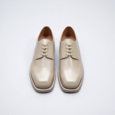 AURALEE「 LEATHER SHOES MADE BY FOOT THE COACHER / BEIGE 」