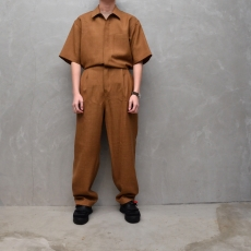 AURALEE 「 WOOL CUPRA LINEN CLOTH JUMPSUIT 」