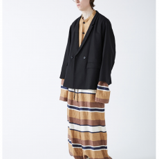 WHOWHAT「DOUBLE & DOUBLE WIDE JACKET / BLACK」