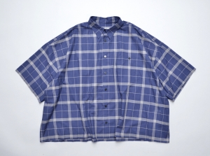 WHOWHAT「5X SHIRT TYPE 3 - SHORT LENGTH  SHORT SLEEVE- / NAVY