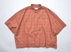 WHOWHAT「5X SHIRT TYPE 3 - SHORT LENGTH  SHORT SLEEVE- / BRICK 」