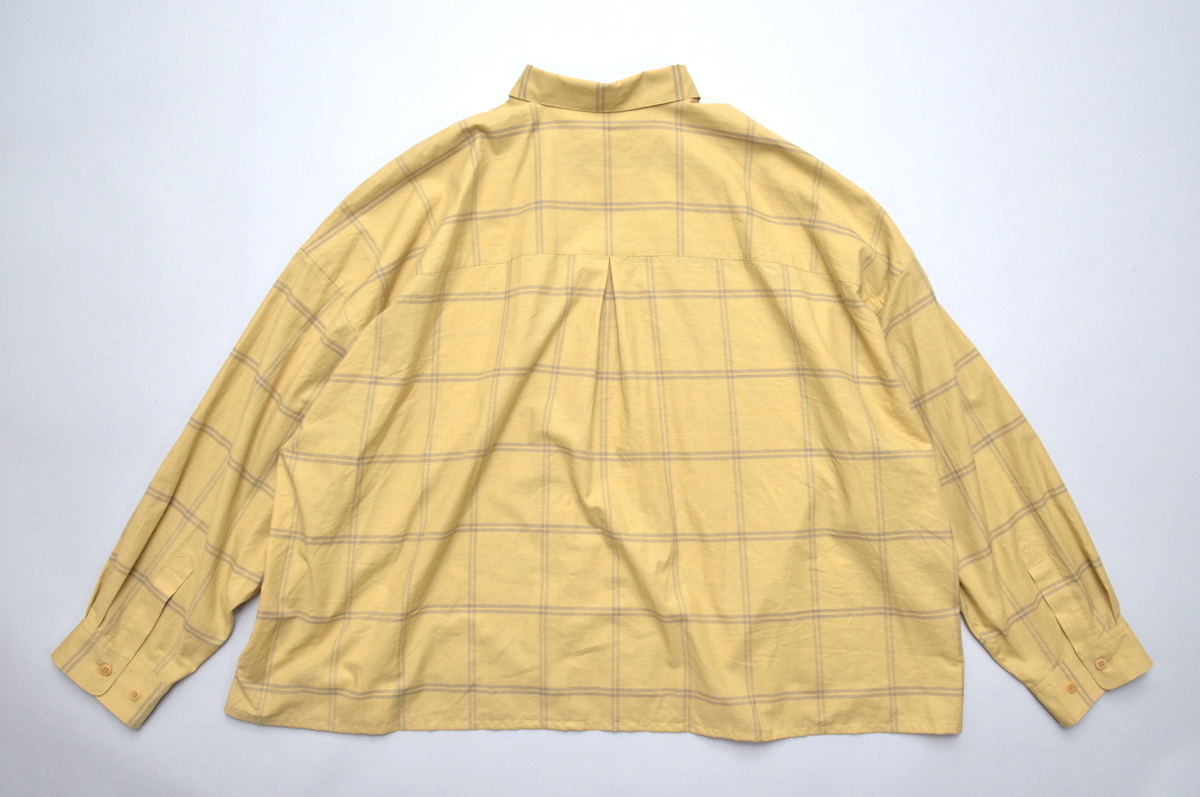 WHOWHAT「5X SHIRT TYPE 3 - SHORT LENGTH LONG SLEEVE - / MUSTARD 」
