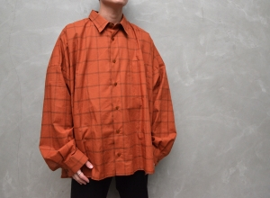 WHOWHAT「5X SHIRT TYPE 3 - SHORT LENGTH LONG SLEEVE - / BRICK 」