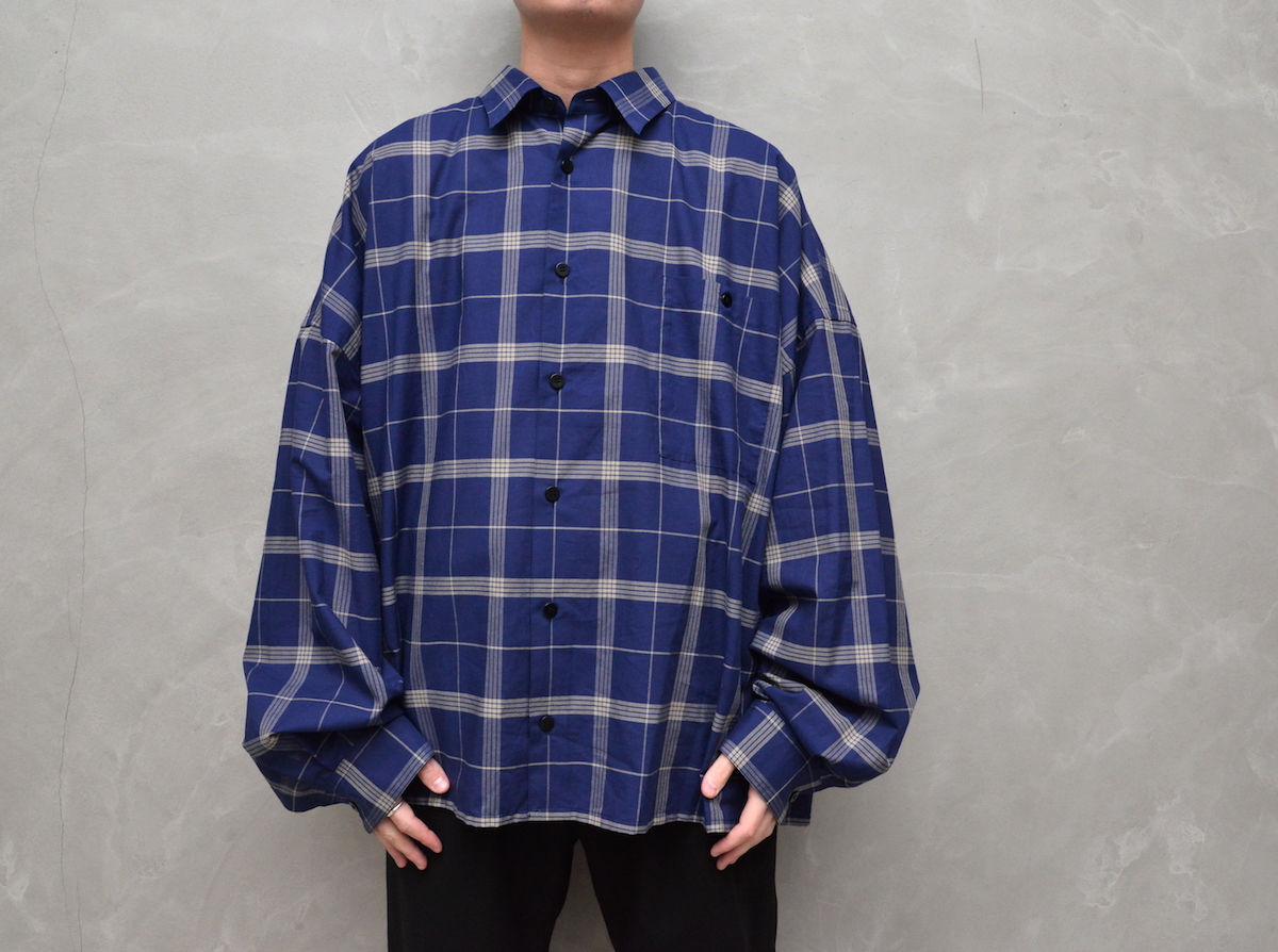 WHOWHAT「5X SHIRT TYPE 3 - SHORT LENGTH LONG SLEEVE - / NAVY 」