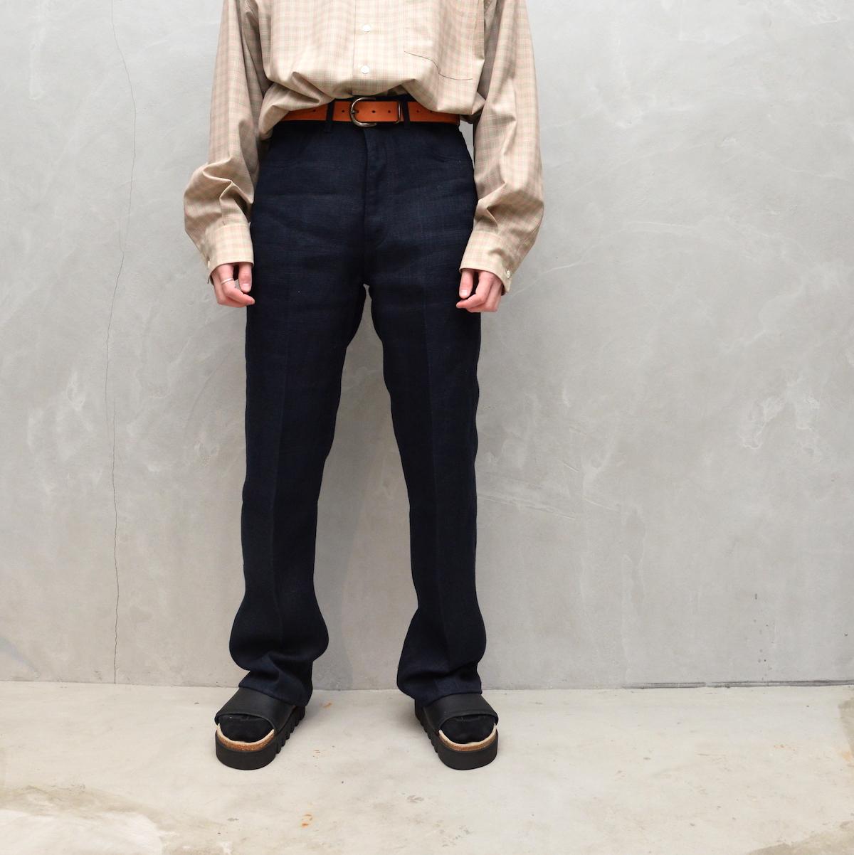 AURALEE 「 LINEN DOUBLE FACE 5P PANTS 」
