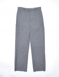 kudos 「 TUCKED LINES TROUSERS / CHARCOAL 」