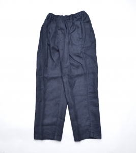 COMFORTABLE REASON 「 Linen Daily Slacks / Navy 」